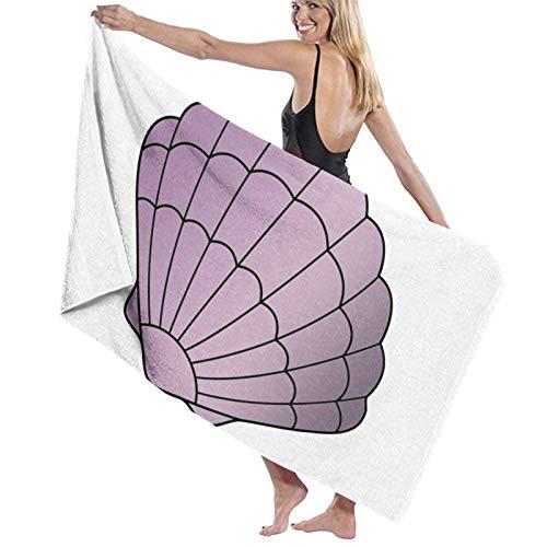 LREFON Purple Mermaid Seashell Toallas de baño Moda Toalla de Ducha de Secado rápido Personalidad Toalla de natación de Playa Suave (31.5X51.2 Pulgadas)