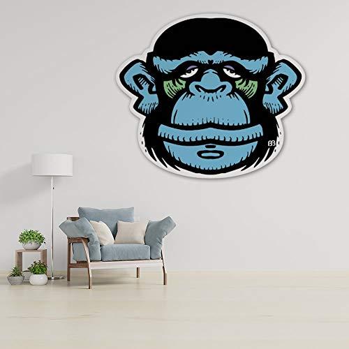 DKISEE Bobby Blue Monkey - Adhesivo decorativo para pared, diseño de mono azul