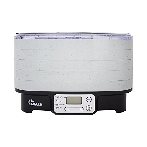 CHARD 5 Tray Food Dehydrator, 15.157 inches X 12.008 inches, Gray