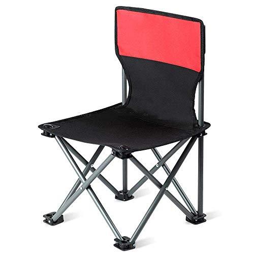 ZLININ Y-longhair Silla plegable para uso al aire libre, pesca portátil, taburete Maza Art, banco con respaldo a espalda