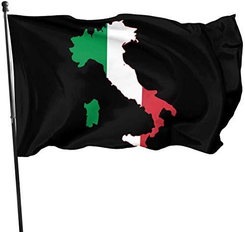 Alanader Bandera de jardín, Bandera de Patry, 3X 5 pies Italia Italia Bandera Italiana Logotipo Banderas Decorativas de jardín, Bandera Artificial al Aire Libre para el hogar, Decoraciones de jardín