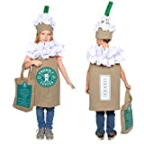 Dress Up America Coffee Costume for Kids - Cute Cappuccino/Frappuccino/Latte Dress-Up for Boys and Girls