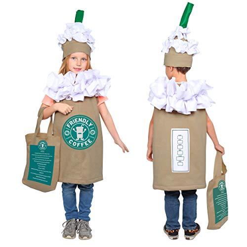 Disfraz de caf para nios Amrica para nios - Cute cappuccino / Frappuccino / Latte Dress-up para nios y nias