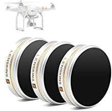 LENSKINS 3 Pack ND4-CPL/ND8-CPL/ND16-CPL Filter Kits Compatible DJI, Replacement for DJI Phantom 4/Phantom 3 Professional/Phantom 3 Advanced Filter, AGC Optics, Multi-Resistant Coated with Lens Cloth