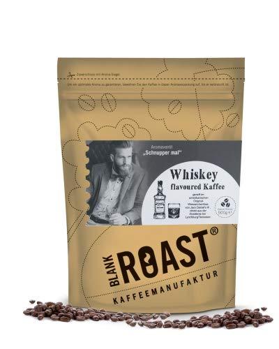 Blank Roast Kaffeebohnen, Flavoured Kaffee Crema, Whiskey, Rum, Gin & Sherry, 500 g