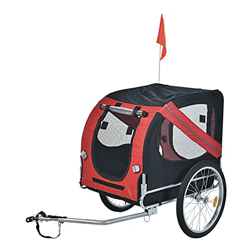 HXXXIN Bicycle Trailer Pet Car Cart Shock Absorption Type Universal Front Wheel Bicycle Trailer Rear Trailer Can Be Used As A Bicycle Trailer Universal Wheel,Red