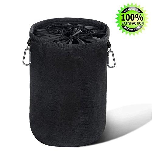 Miya Yami® Wäscheklammerbeutel aus strapazierfähigem Gewebe mit 2 Hängehaken, Klammerbeutel für bis zu 300 kleine oder 200 große Wäscheklammern (Wäscheklammerbeutel)