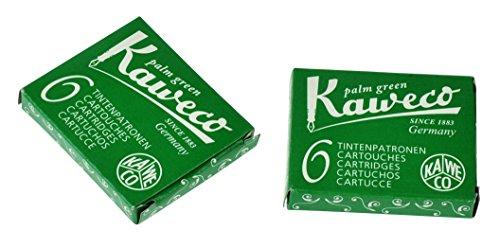 Kaweco Füller Tintenpatronen Palm Green für Patronen-Füller mit kurzen Standardpatronen I 6 Füllerpatronen für Tintenpatronen Füller vieler Markenenhersteller I Tinte für Füller Grün