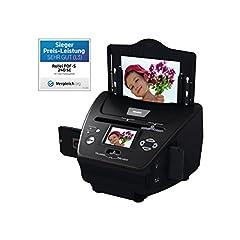 Rollei PDF-S 240 SE - Multiscanner pour photos, diapositives et négatifs, numérisation en quelques secondes, y compris logiciel de retouche d'image - Noir
