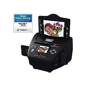 Fotogrößen: 9 x 13 cm, 10 x 15 cm und 13 x 18 cm - Bilder ohne Computer scannen 2,4 Zoll (6,1 cm) TFT-LCD Farbmonitor und Mini USB 2.0-Anschluss Einfache Handhabung und sekundenschneller Scanvorgang und 2-in-1 Speicherkartenslot (SD/SDHC/MMC) Scan-Qu...