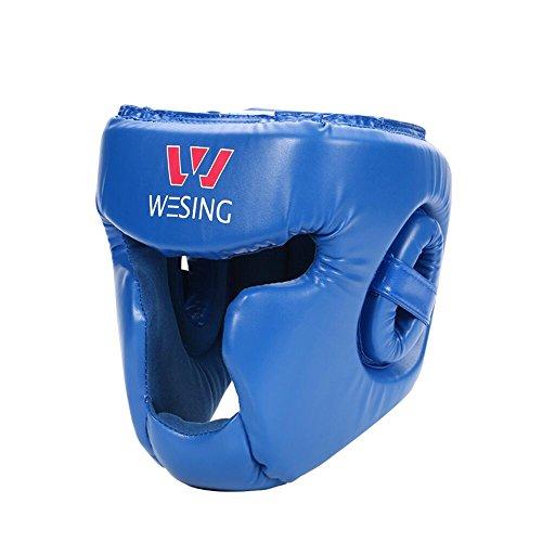 Wesing Equipo de Entrenamiento de Boxeo Casco Cerrado Completo Artes Marciales MMA Entrenamiento de Boxeo Guardia Principal