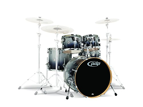 PDP By DW 5-Piece Concept Maple Shell Pack with Chrome Hardware Silver to Black Fade