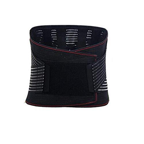 HWZ Waist Trainer Men Women Power Hot Body Gym Shaper Girdle Belt Underbust Control Corset Firm Sports (Black, XXL)