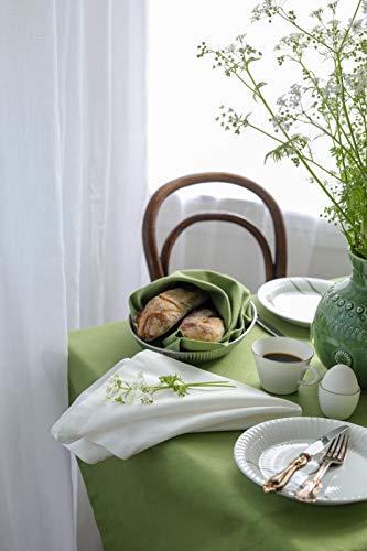 Linum Bianca Tischdecke 100x100 A18 moosgrün