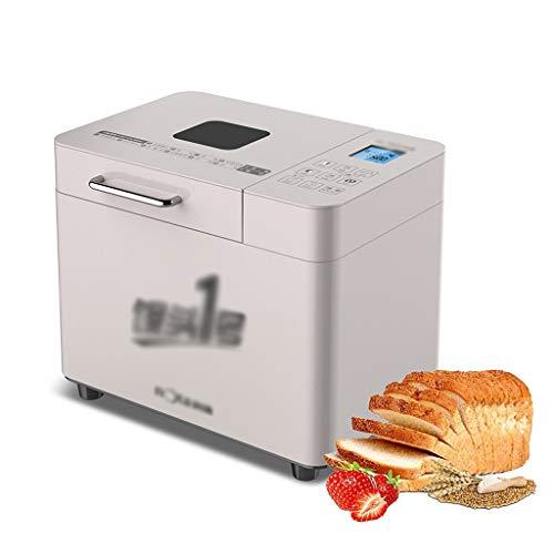 ZTCWS Máquina de Hacer Pan, 2.2LB Acero Inoxidable máquina de Pan con el Ajuste sin Gluten, 12-en-1 programable máquina de Pan Cafetera, Cacerola Antiadherente, 3 Colores Corteza