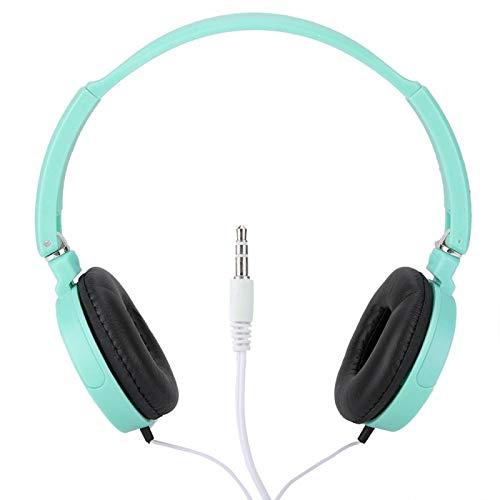 FOLOSAFENAR Auriculares Line-IN Entrada de Audio Externa Reproducir en Tarjetas TF Auriculares con Cable Sonido estereoscópico Envolvente 3D, para Deportes, para Escuchar Bien