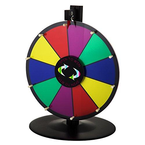 BuoQua 18Inch Gioco Ruota della Fortuna da Tavolo 4.2kg Roulette Casinò E Attrezzature Il Supporto Sfondo Colorato da Tavolo Fortune Spinning Prize Wheel per Spin Game Carnival