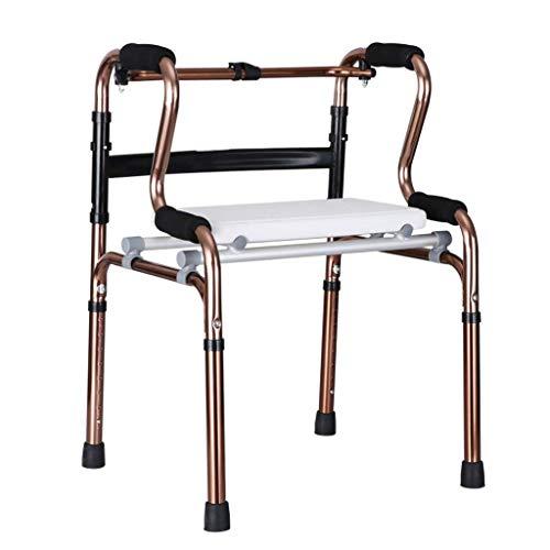 Giow Rollator Walker -Drive Medical Aluminium Rollator zusammenklappbar mit Rädern und Sitz Professional für Senioren, Behinderte, Behinderte, max. 180 kg