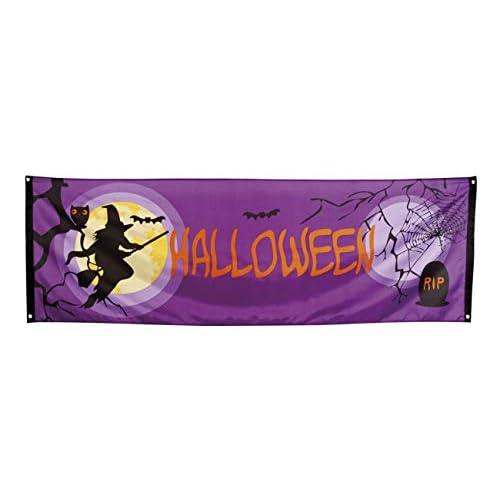 Boland- Striscione Banner 'Halloween' con Strega, Viola/Nero, 76922