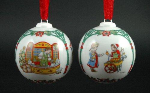 Hutschenreuther Weihnachtskugel 1998*Rarität, Baumkugel, Porzellankugel, Anhänger, Baumanhänger, Baumschmuck, Weihnachten