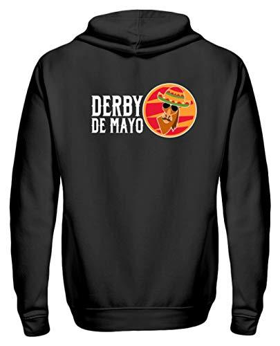 Derby De Mayo - Sudadera con Cremallera para Mujer, Hombre, diseño de Mexicano Negro S
