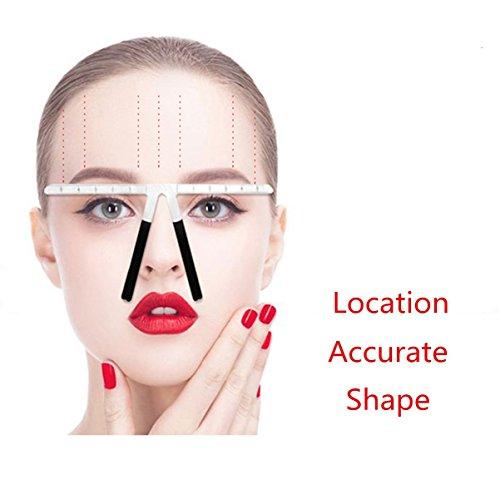 Sourcils Règle de précision, réutilisable sourcils équilibre Règle 3 points Position verwend ungierung équilibre de formes pochoir à sourcils outils de maquillage sourcils Règle