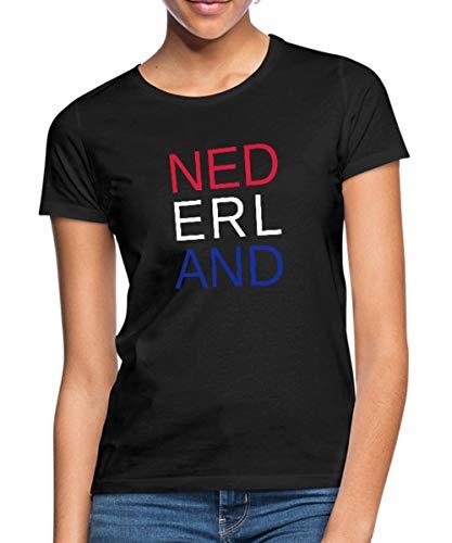 Spreadshirt Rood Wit Blauw Nederland Vlag Vrouwen T-shirt