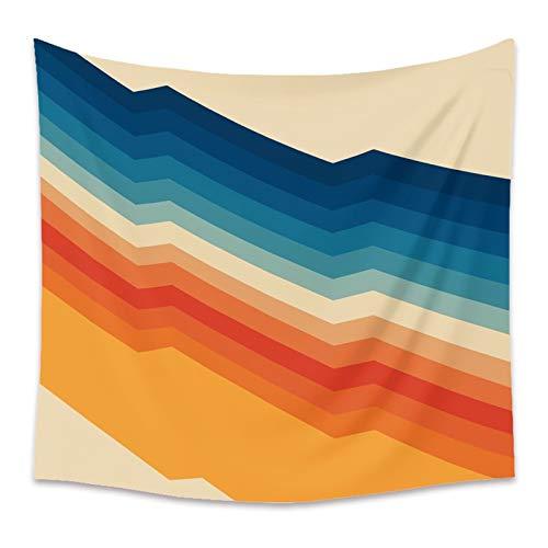 WERT Sol y Luna Tapiz Simple Colgante de Pared Tapices de Bloques de Colores Pintura Decoración del hogar Fondo para Dormitorio Dormitorio A9 200x150cm