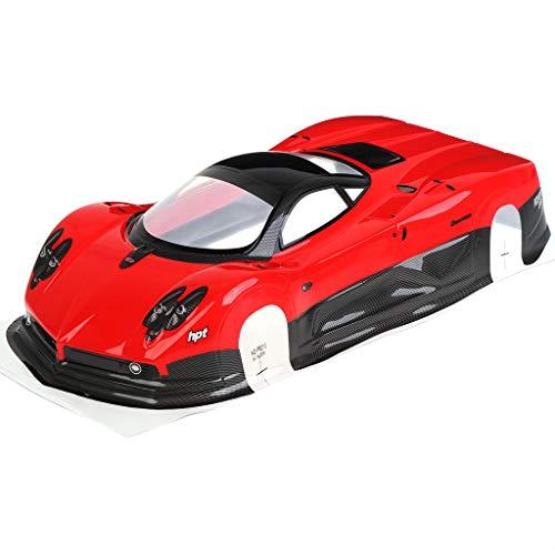 Lisanl Neue Maßstab 1:10 RC Auto On-Road Karosserie Gehäuse 200 mm für HSP 94123 94122 Ersatzteile (rot)