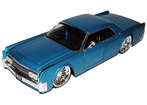 Lincoln Continental 1963 Coupe Blau Tuning 1/24 Jada Modellauto Modell Auto Sonderangebot