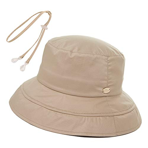 Summer Beach Bucket Hat for Women Sun UV Protection Travel Hiking Large Brim Fashion Fishing Floppy Chin Strap SPF