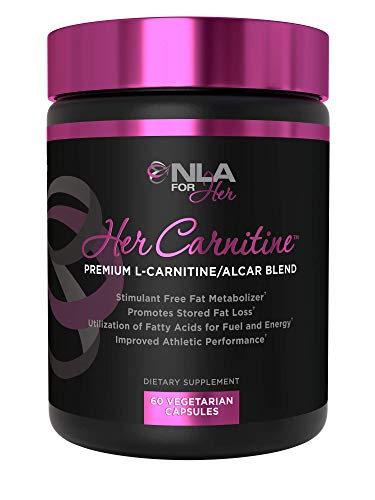 NLA for Her - Her Carnitine - Premium L-Carntine/ALCAR Blend - Supports Fat Loss (Stimulant Fee), Improved Athletic Performance & Provides Fuel and Energy - 60 Capsules