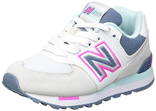 New Balance 574 PC574NLH Medium, Zapatillas Niñas, Grey (Summer Fog NLH), 34.5