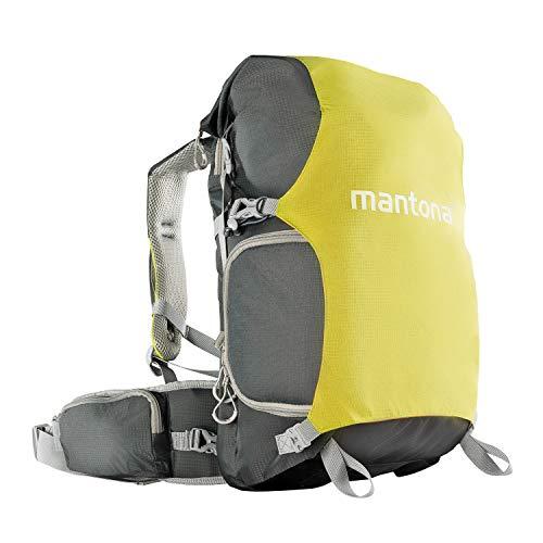 Mantona ElementsPro 30 V2 Outdoor Kamerarucksack – DSLR Rucksack grün, mit Schnellzugriff, Kameratasche mit Regenschutz, wasserdicht, bequemes Tragesystem