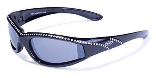Global Vision Eyewear Marilyn 11Occhiali da Sole, Telaio Nero, Flash Lenti a Specchio