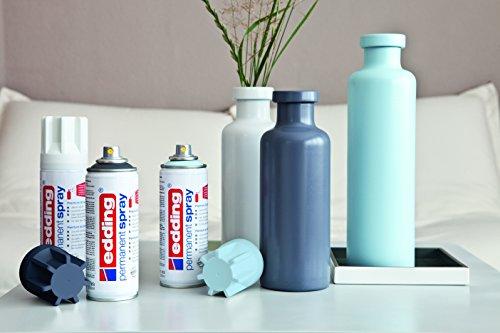 edding 5200-994 - Spray de pintura acrílica de 200 ml, secado rápido sin burbujas, laca transparente brillo