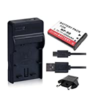 NinoLite 3点セット カシオ NP-90 互換 バッテリー +USB型 充電器 +海外用交換プラグ 、Casio 対応 dc94np90casio
