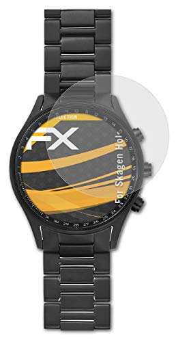 atFoliX Panzerfolie kompatibel mit Skagen Holst Schutzfolie, entspiegelnde & stoßdämpfende FX Folie (3X)