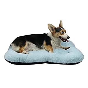 WZ PET Dog Bed Soft Crate Mat,Washable Dog Crate Bed Cushion Anti-Slip,Pet Mattress for Medium Large Dogs and Cats Kennel Pad 30″ 36″ 40″,Purple Blue