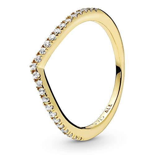 Pandora Damen-Jahretagring V-Form Vergoldet mit '- Ringgröße 54 168758C01-54, Gold