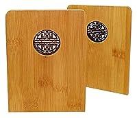 頑丈でよく作られたアートブックエンド、 創造的な木製のブックエンド窓のデザイン本棚の装飾竹本は、本の愛好家のためのかわいいレトロな本のストッパーを終わらせる BDBT (Color : 2 Pack Premium Product)