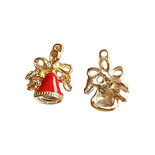 Hothap 20 stuks/set gekleurde emaille kerstbel charms hangers voor DIY sieraden maken armband oorbellen accessoires ornament met gat D (eerste foto)