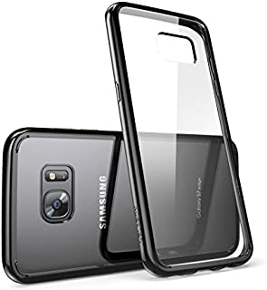 Galaxy S7 Edge Case, [Scratch Resistant] i-BlasonClear [Halo Series] Samsung Galaxy S7 Edge Hybrid Bumper Case Cover 2016 Release (Clear/Black)