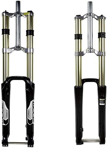 DFBGL Horquilla de suspensión Bicicleta de montaña de Viaje de 180 mm Horquilla MTB Bicicleta, Horquilla de Descenso de aleación de magnesio para Bicicleta Eje de 20 mm, 1-1/8'Sin Rosca