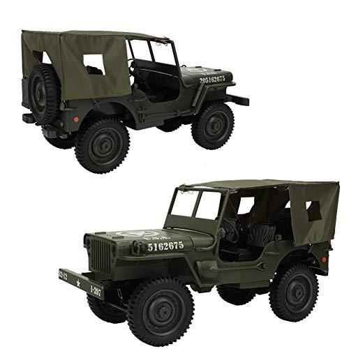 Dilwe 1 10 RC Militär-LKW, 2.4G Fernbedienung Allrad LKW kletternde Auto Spielzeug Geschenke für Kinderjugend-Erwachsene(#2)