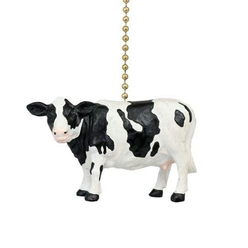 Holstein Farm Cow Ceiling Fan Pull by Clementine Design