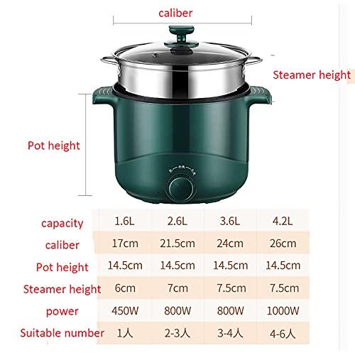 Olla arrocera, Rice Cooker multifuncional para el hogar/sartén/wok/olla de sopa, alimentos y verduras saludables al vapor (Color : B, Size : 1.6L)