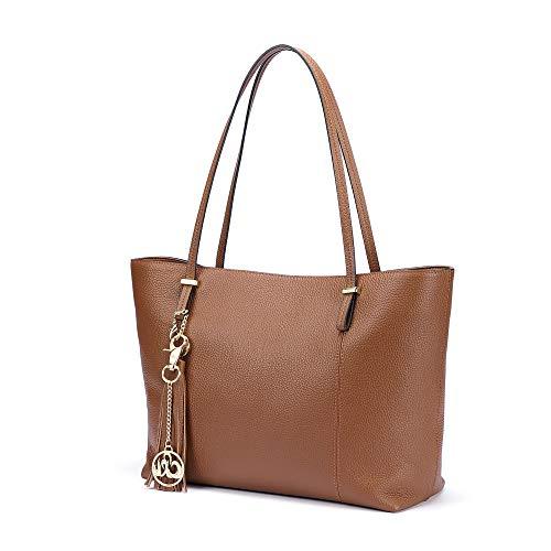 C'iel Drèa Women's Style Genuine Leather Work Tote Large Shoulder Bag (Bronze)