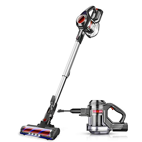 MOOSOO Cordless Vacuum, 4 in 1 Powerful Suction Stick Vacuum Cleaner 1.3L Capacity for Home Hard...