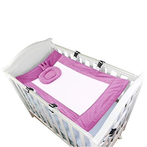 N/A Außen Bequeme Baby-Hängematte Babybett Hängematte robust und langlebig Baby-Hängematte Babybett mit Babybett Kissen Mesh Tragbare Babyhängematte (Color : Hot pink)